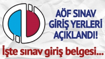 AÖF sınav giriş belgesi, 18-19 Ocak AÖF sınav giriş belgesi sorgulama, Açıköğretim  Anadolu Üniversitesi